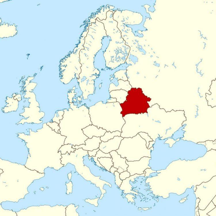 Беларусь-на-карте-мира